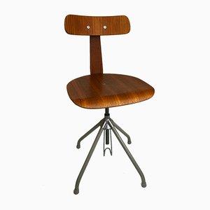 Chaise Pivotante Ajustable Industrielle, 1950s