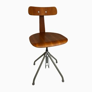 Industrial Adjustable Swivel Chair, 1950s