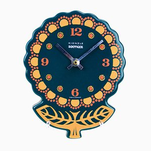 Vintage German Ceramic Flower Clock from Kienzle, 1970s
