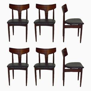 Esszimmerstühle aus Palisander von Mahjongg, 1960er, 6er Set