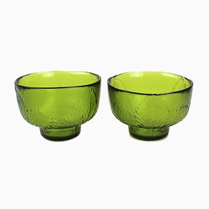 Scandinavian Colored Glass Dessert Bowls by Anna Wärff for Kosta, 1970s, Set of 2