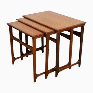 Danish Teak Nesting Tables from B.C. Moller, 1960s