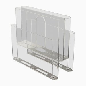 Italian ABS Magazine Rack by Giotto Steppino for Kartell, 1970s