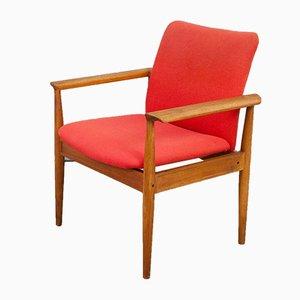Chaise Diplomat en Teck par Finn Juhl pour France & Sons, Danemark, 1960s