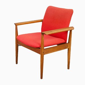 Danish Teak Diplomat Chair by Finn Juhl for France & Sons, 1960s