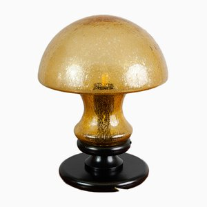 Deutsche Pilzlampe aus handgeblasenem Glas von Doria Leuchten, 1970er