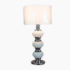 Lámpara de mesa alemana de metal cromado de Sölken Leuchten, años 70