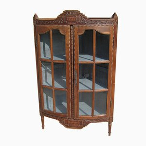 Art Deco Oak Corner Cabinet, 1920s