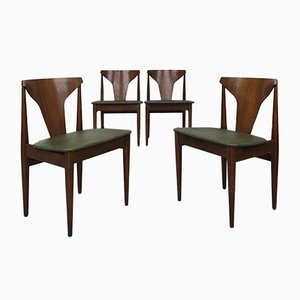 Beech and Teak Dining Chairs from Elliots of Newbury, 1970s, Set of 4
