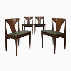 Esszimmerstühle aus Buche und Teakholz von Elliots of Newbury, 1970er, Set of 4