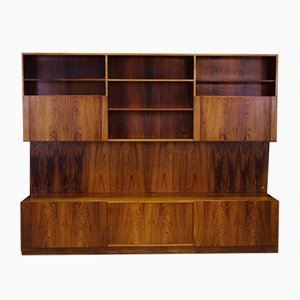 Danish Rosewood Veneer Wall Unit by Ib Kofod Larsen for Faarup Møbelfabrik, 1960s