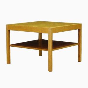 Tavolino da caffè impiallacciato in frassino di Hans J. Wegner per Andreas Tuck, Danimarca, anni '60