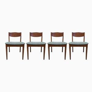 Skandinavische Vintage Mid Century Esszimmerstühle, 4er Set