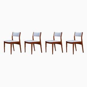 Vintage Scandinavian Teak Chairs, Set of 4