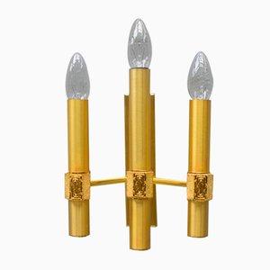 Goldene Mid-Century moderne Wandlampe von Sciolari, 1960er