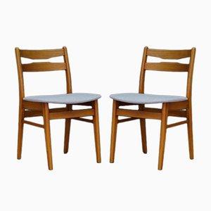 Mid-Century dänische Design Stühle, 2er Set