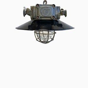 Lampada vintage industriale antideflagrante, anni '60