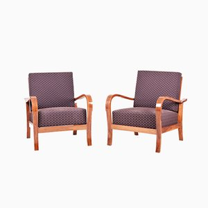 Art Deco Czechoslovakian Armchairs, Set of 2