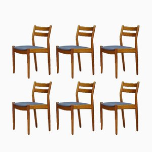 Vintage Teak Chairs by Poul M. Volther, Set of 6