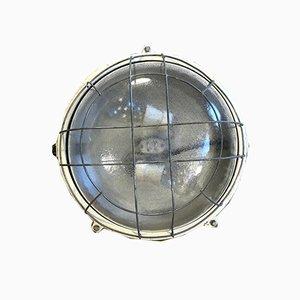 Aplique industrial de aluminio y vidrio de Elektrosvit, años 70