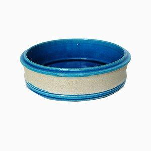 Blaue Keramikschale von Nils Kähler für Kähler, 1970er
