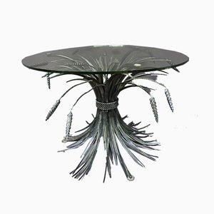 Table Basse avec Épis de Blé Vintage, France