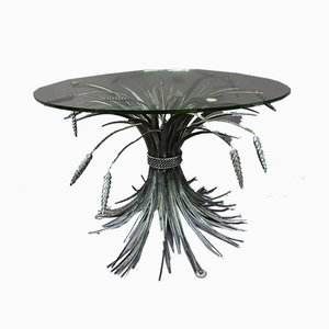 Vintage French Wheat Sheaf Coffee Table