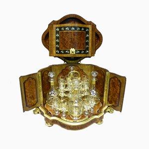 Antikes französisches Geschirr aus Bronze und Holz