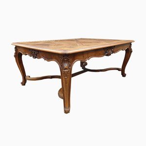 Vintage French Walnut Dining Table