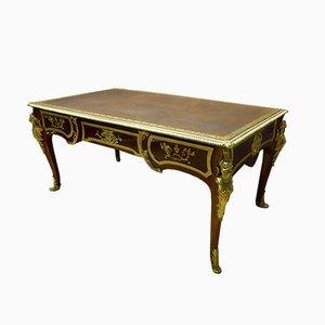 Antiker französischer Schreibtisch aus Bronze und Eisen