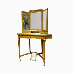 Louis XVI Style French Wooden Dressing Table, 1950s
