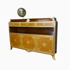 Louis XV Style French Mahogany Sideboard from Chaleyssin, 1950s