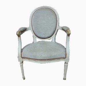 Vintage Louis XVI Style Armchairs, 1980s, Set of 2
