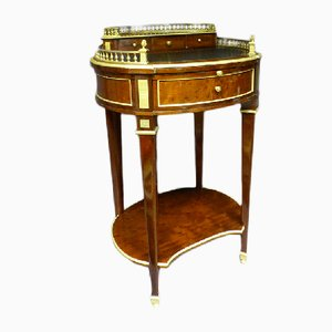 Antique French Bronze & Leather Napoleon III Side Table