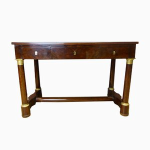 Antique French Leather and Mahogany Empire Desk