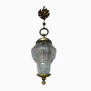 Antique French Bronze and Glass Lantern