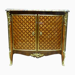 Antique French Rosewood Marquetry and Marble Napolean III Buffet