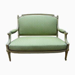 Sofá estilo Louis XVI antiguo de haya lacada