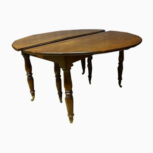 Tavolo allungabile in mogano, XIX secolo