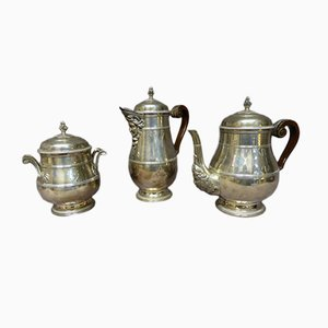Antique Sterling Silver Coffee or Tea Set from Paul Canaux