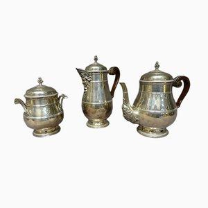 Set da caffè o tè antico in argento Sterling di Paul Canaux