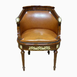 Chaise de Bureau Style Louis XVI Antique
