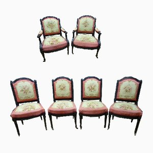Napoleon III Aubusson Tapestry Lounge Chair