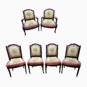 Sillón Napoleon III de tapicería Aubusson