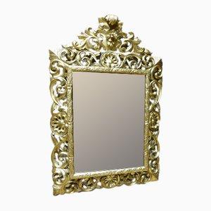 Espejo de madera dorada, siglo XIX