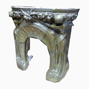 Antique Art Nouveau Fireplace by Jules Louis Rispal