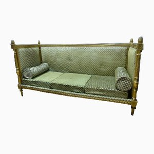 Antique Louis XVI Golden Sofa Bench