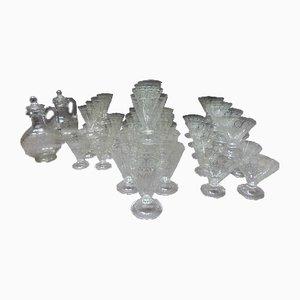Vintage Glasservice-Set aus Kristallglas in 44 Teilen