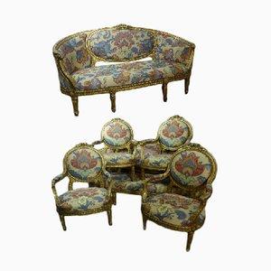 Napoleon III Sofa im Stil von Louis XVI