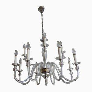 Lámpara de araña vintage con 12 brazos